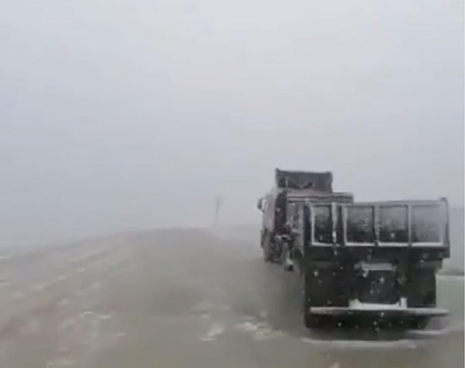 Июльский снег изрядно удивил жителей области на востоке России (фото)