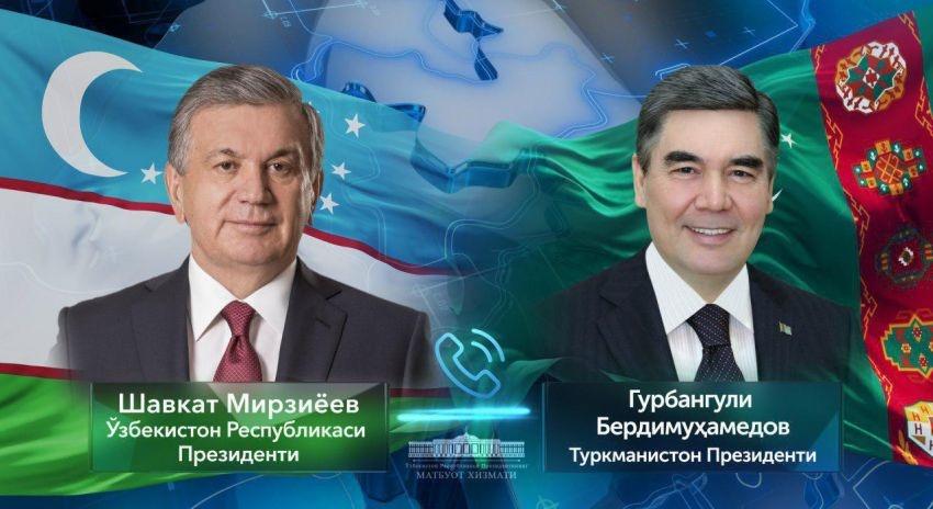 Шавкат Мирзиёев и Гурбангулы Бердымухамедов обсудили меры по недопущению распространения коронавирусной инфекции
