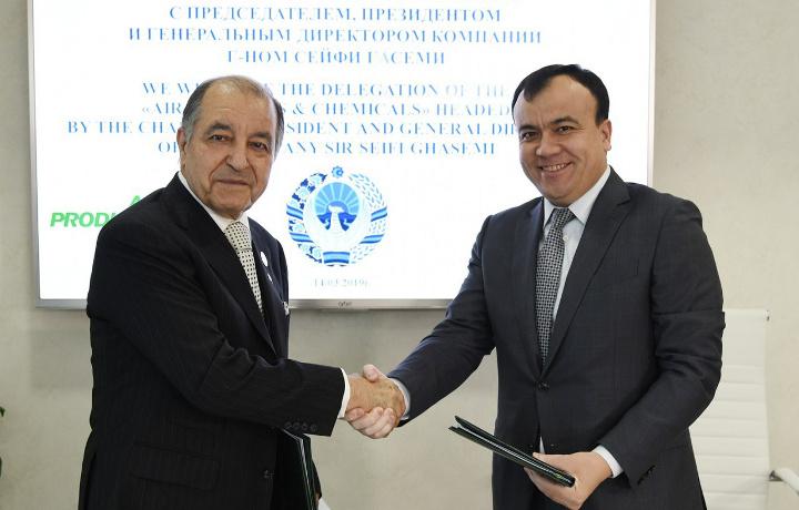 Алишер Султанов подписал соглашение с американской корпорацией «Air Products»