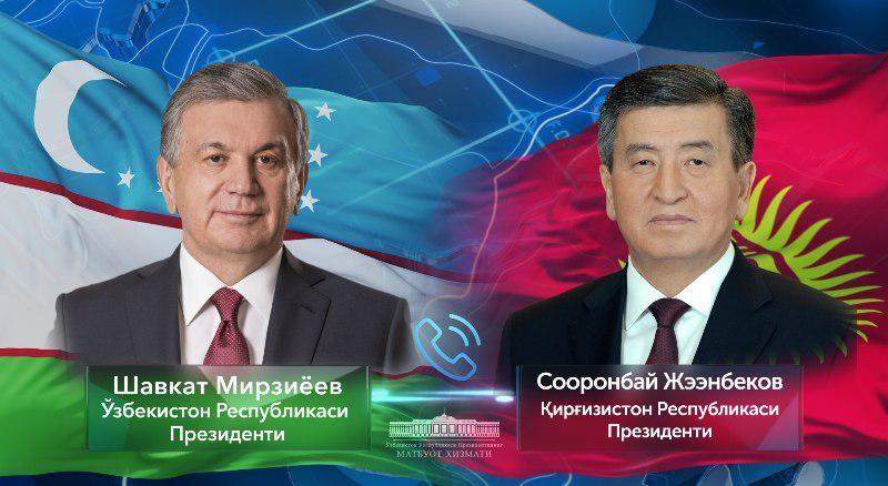 Shavkat Mirziyoyev Qirg'iz Respublikasi prezidenti bilan telefon orqali muloqot qildi