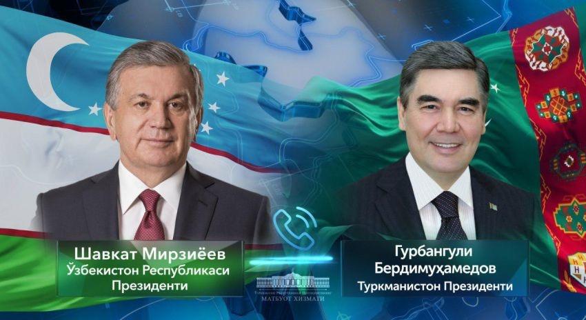 Shavkat Mirziyoyev Gurbanguli Berdimuhamedov bilan muloqot qildi