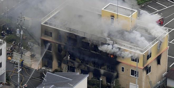Более десяти человек погибли в результате поджога студии аниме в Японии (видео)