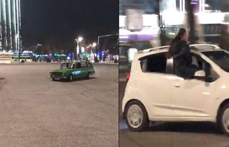 ГУВД Ташкента поместило на штрафплощадку 14 автомобилей, участвовавших в «ночных развлечениях» (видео)