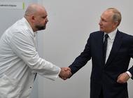 Владимир Путин коронавирус юқтириб олган шифокор Денис Проценко билан.